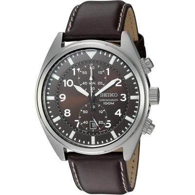 腕時計   Seiko Men's SNN241 Stainless Steel Watch with Brown Leather Band 輸入品