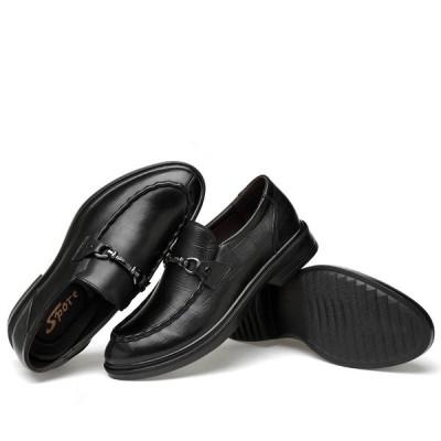 ビジネスシューズ 紳士靴 プレーントゥ オックスフォード メンズシューズ メンズ 軽量 革靴 通勤 本革レザー 通気性 カジュアル ロングノーズ