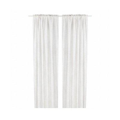 IKEA イケア カーテン1組 ホワイト ベージュ 145x250cm m10490729 KLOVERALM