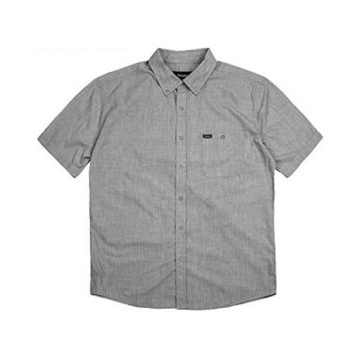 Brixton Central S/S Woven Shirt Heather Grey S シャツ 送料無料