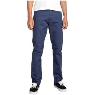 ルーカ メンズ カジュアルパンツ ボトムス RVCA Daggers Slim-Straight Twill Pants Moody Blue