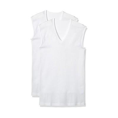 [グンゼ] インナーシャツ V首スリーブレスシャツ 綿100% 抗菌防臭加工 RB45182 メンズ ホワイト 日本 M (日本サイズM相当)