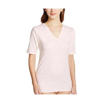 [グンゼ] インナーシャツ 快適工房 婦人V型五分袖スリーマー 綿100% 日本製 KH5048 レディース カームベージュ 日本L (日本