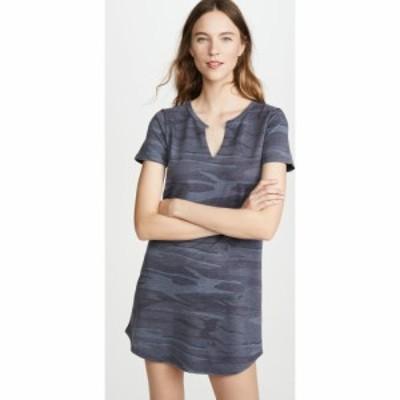 ゼットサプライ Z Supply レディース ワンピース ワンピース・ドレス Camo Split Neck Dress Camo Dark Blue