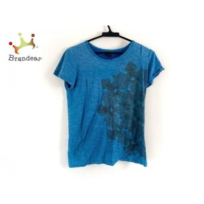 ワイズ Y's 半袖Tシャツ レディース - ブルー×カーキ クルーネック 新着 20200930
