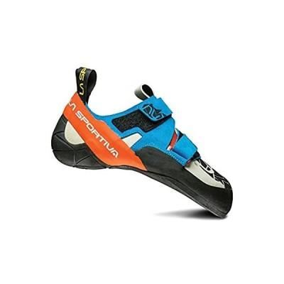 La Sportiva OTAKI Climbing Shoe, Blue/Flame, 44