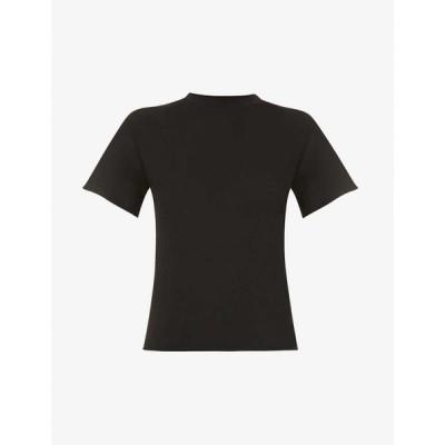 ライブ ザ プロセス LIVE THE PROCESS レディース Tシャツ トップス Boy high-neck cotton-cashmere blend T-shirt BLACK