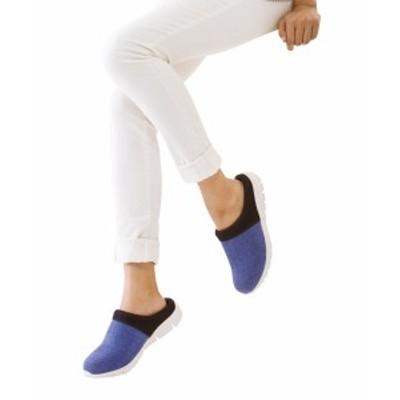 靴 レディース リフレッシュステップ スニーカー クロッグ  グレー/ネイビー 23.0~23.5/24.0~24.5cm ニッセン