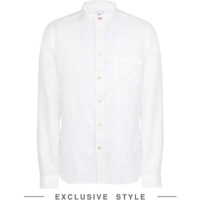 ポールスミス PS PAUL SMITH x YOOX メンズ シャツ トップス Mes L/S Tailored Fit-Shirt Linen Shirt White