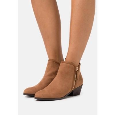 ニュールック レディース 靴 シューズ BELLA SIDE ZIP - Ankle boots - tan