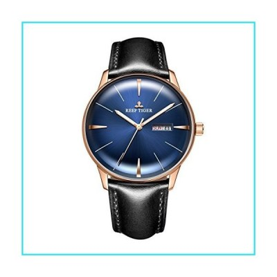 Reef Tiger Dress Blue Watches Men's Automatic Watches Waterproof Genuine Leather Band RGA8238 (RGA8238-PLBH)【並行輸入品】