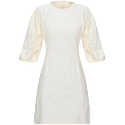 SUOLI ミニワンピース&ドレス アイボリー 40 ポリエステル 50% / コットン 46% / ポリウレタン 4% ミニワンピース&ドレス
