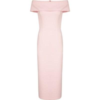 レベッカ ヴァランス Rebecca Vallance レディース パーティードレス ミドル丈 ワンピース・ドレス Amore stretch-crepe midi dress Light Pink