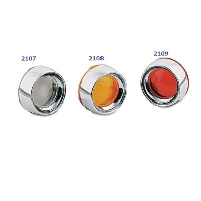 Deep Dish Bezels ディープディッシュベゼル/クリヤキン/Smoke Lens(pr) 2107 ハーレーダビッドソンパーツ HARLEY-DAVIDSON PARTS