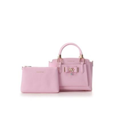 サマンサベガ ビジューリボンバッグ(小) ピンク