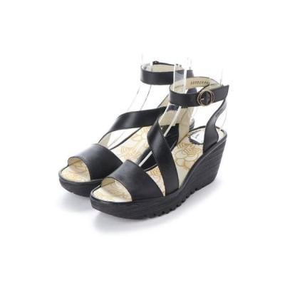 ヨーロッパコンフォートシューズ EU Comfort Shoes FLYLONDON サンダルパンプス(500.526) (ブラック)