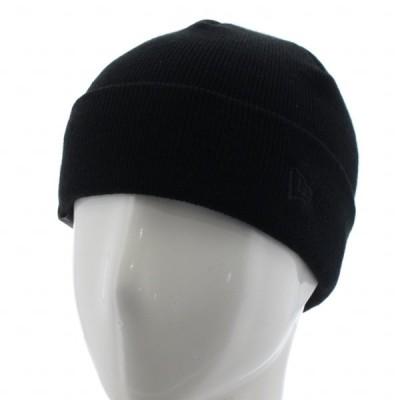 ニューエラ ニット帽 ベーシック カフニット ミッド ブランドネーム 12540481 帽子 : ブラック NEW ERA
