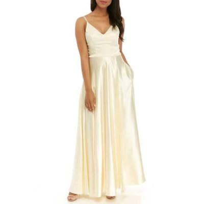 シークインハーツ レディース ワンピース トップス Women's Sleeveless Satin Gown