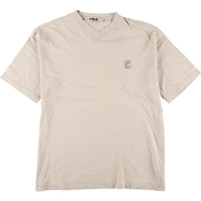 90年代 フィラ FILA VネックTシャツ USA製 メンズL ヴィンテージ /eaa173975
