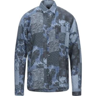 120パーセント 1.2 メンズ シャツ トップス Linen Shirt Sky blue