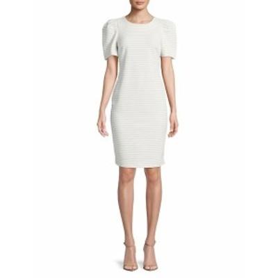 カルバンクライン レディース ワンピース Stripe Puff-Sleeve Dress