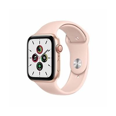 最新 Apple Watch SE(GPS + Cellularモデル)- 44mmゴールドアルミニウムケースとピンクサンドスポーツバンド