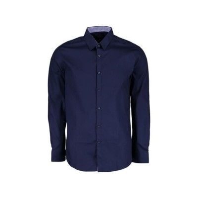 ギャラクシーバイハルビック メンズ シャツ トップス Mens Long Sleeve Solid Slim Fit Dress Shirts