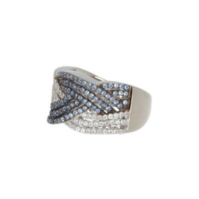 スージレビアン レディース リング アクセサリー Sterling Silver Sapphire Crossover Ring BLUE