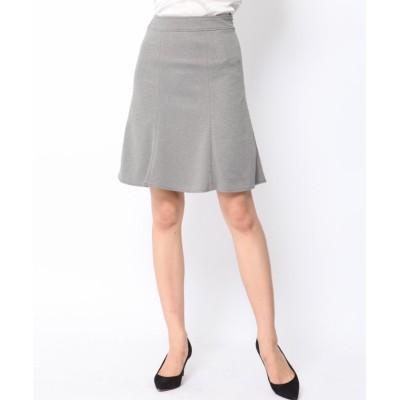 【クイーンズ コート】 <<大きいサイズ>>ポンチスカート レディース グレー 4L QUEENS COURT