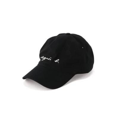 恩返しセール アニエスベー キャップ 帽子 ロゴ刺繍 メンズ レディース 調整可 ブラック 男性 女性 彼氏 彼女