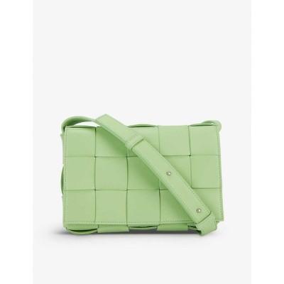 ボッテガ ヴェネタ BOTTEGA VENETA レディース ショルダーバッグ バッグ Cassette intrecciato leather cross-body bag Pistachio Silver
