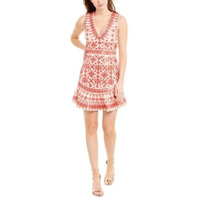 アリス アンド オリビア ワンピース トップス レディース alice + olivia Rapunzel Beaded A-Line Dress peach and bright poppy