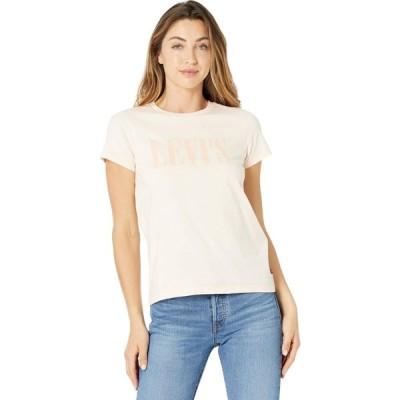 リーバイス Levi's Womens レディース Tシャツ トップス The Perfect Tee Serif Logo Scallop Shell Scallop Shell