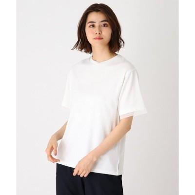 tシャツ Tシャツ シルケット袖チュールプルオーバー