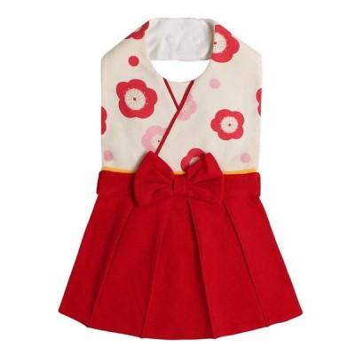 AK Style ベビー 袴 和装 正装 フォーマル スタイ よだれかけ ビブ 190408-1 (レッド