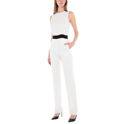 VICTORIA, VICTORIA BECKHAM ジャンプスーツ ホワイト 10 アセテート 60% / レーヨン 40% / シルク ジャンプ