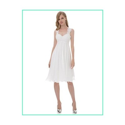 Erosebridal 2018 New Sleeveless Beach Chiffon Wedding Dress Bridal Gown Size 20w Ivory並行輸入品