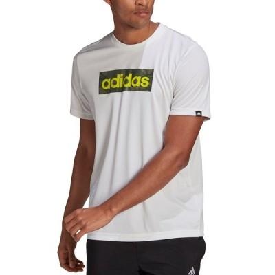 アディダス Tシャツ トップス メンズ Men's Camo Box Logo T-Shirt White