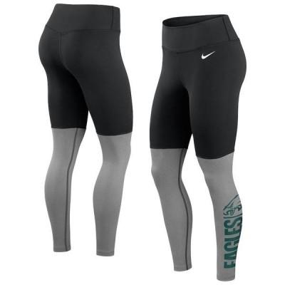 ナイキ レディース カジュアルパンツ ボトムス Philadelphia Eagles Nike Women's Logo Stack Performance Leggings