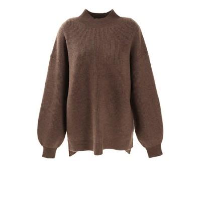 畦編みセーター 872PA0CG7085BRN オンライン価格
