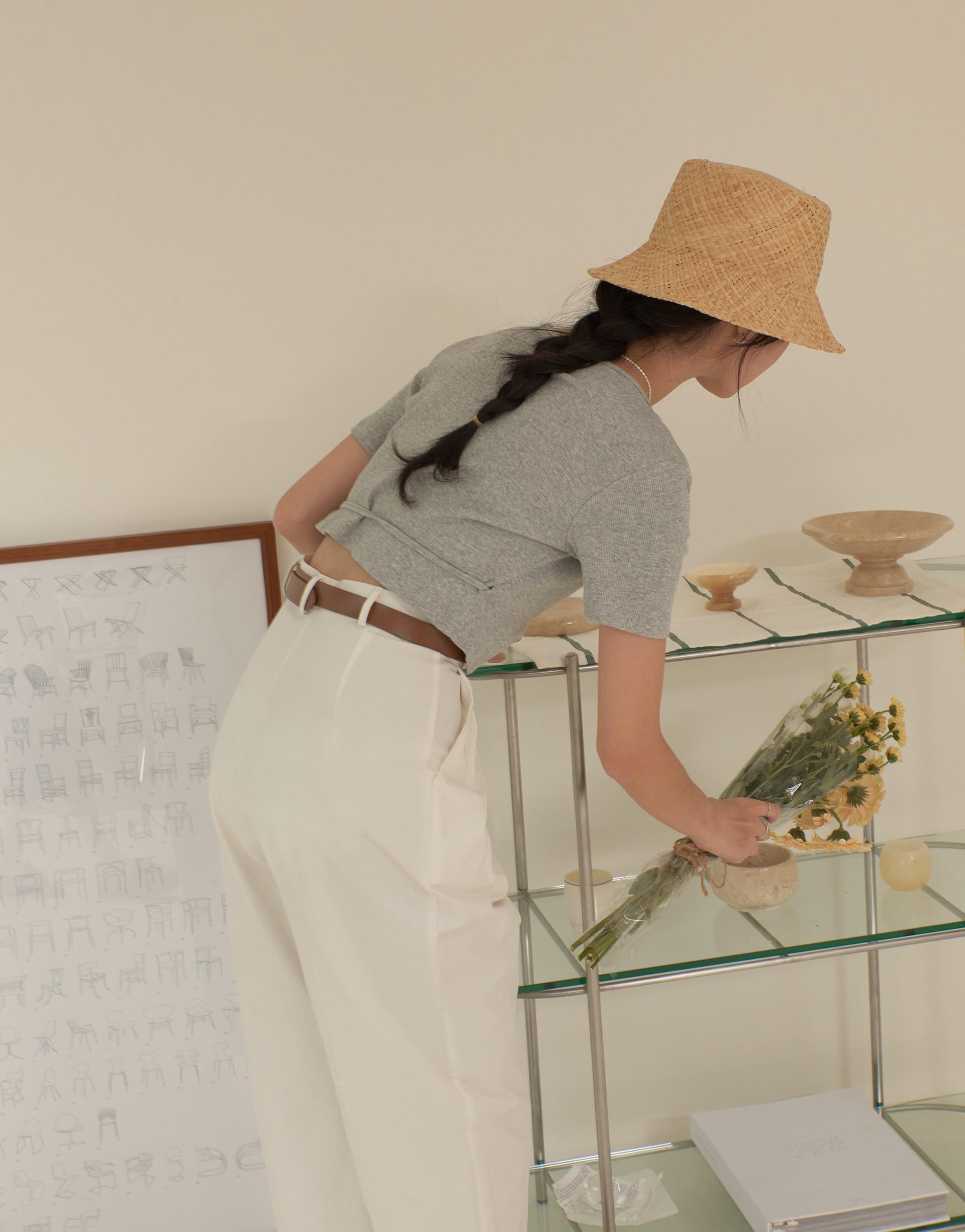 韓系小設計交疊綁繩上衣-PAZZO