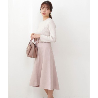 (PROPORTION BODY DRESSING/プロポーションボディドレッシング)<ピスタチオ・WEB限定カラー>カラーマーメイドフレアスカート/レディース ピンク