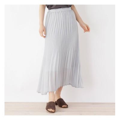 【オペークドットクリップ/OPAQUE.CLIP】 グラデーションプリーツスカート