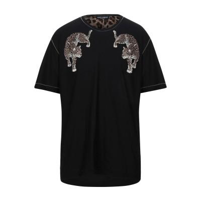 ドルチェ & ガッバーナ DOLCE & GABBANA T シャツ ブラック 46 コットン 95% / シルク 5% T シャツ
