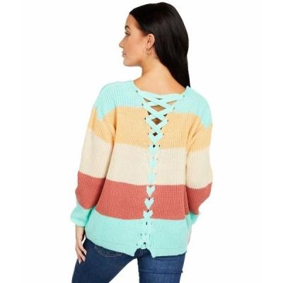 ロックアンドロールカウボーイ ニット&セーター アウター レディース Color-Block Sweater w/ Back Lace-Up Detail 46-6321 Multi Stripe