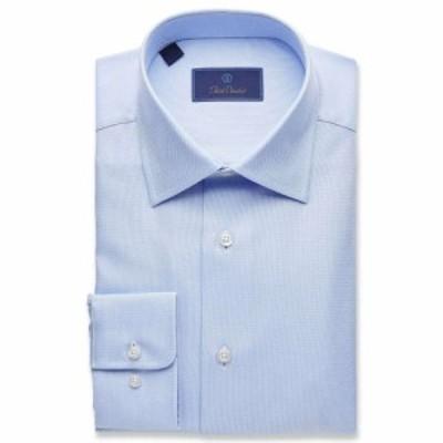 デビッドドナヒュー David Donahue メンズ シャツ トップス Regular Fit Royal Oxford Dress Shirt Blue