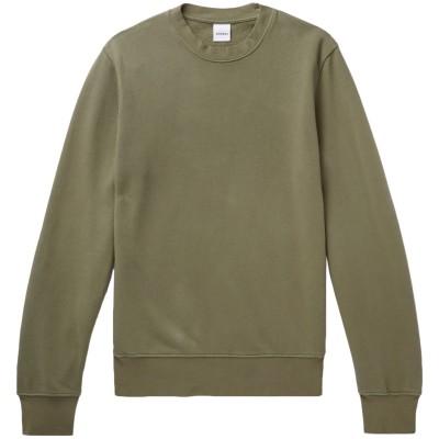 アスペジ ASPESI スウェットシャツ ミリタリーグリーン XS コットン 100% スウェットシャツ