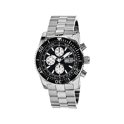 特別価格Revue Thommen ダイバーオートマチックウォッチ - ブラックダイヤル クロノグラフ 曜日日付 Revue Thommen 腕時計 メンズ 好評販売中