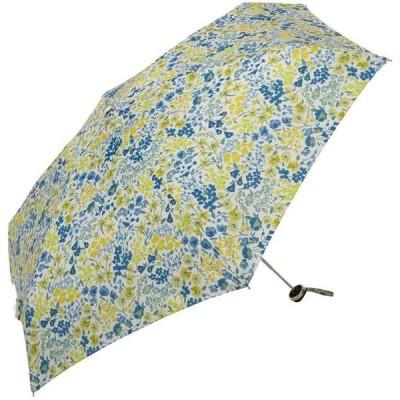 折りたたみ傘 ジッパーポーチ デェンスフローレットミニ ホワイト