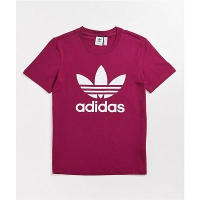 アディダス ADIDAS レディース Tシャツ トップス adidas Classic Trefoil Berry T-Shirt Purple